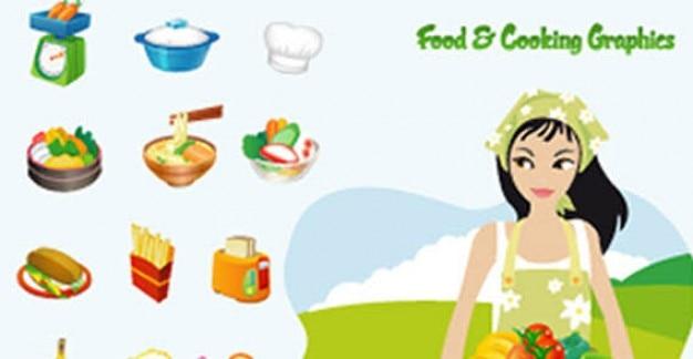 Food & Cooking Vector Graphics Vector | Free Download