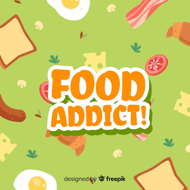 Food addict background Free Vector