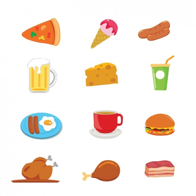 Food And Drink Designs Collection Vector