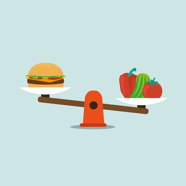 Food background design Free Vector