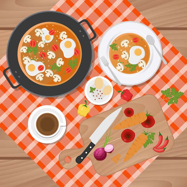 Food Background food background design vector | free download