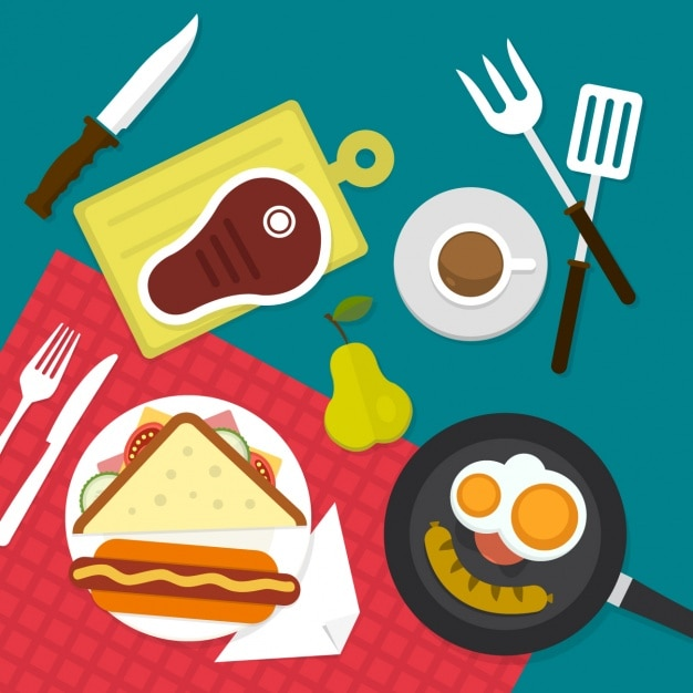Food Background food background flat design vector | free download