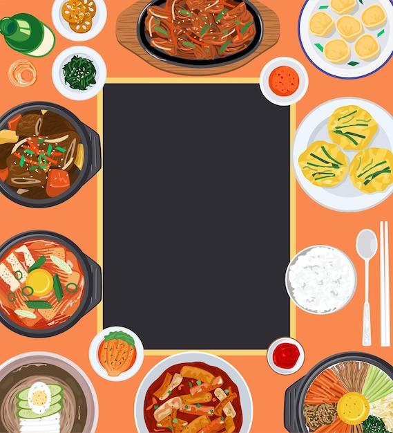 Food background illustration Premium Vector