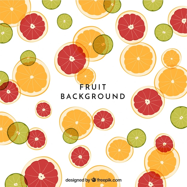 Food background with fruits Free Vector