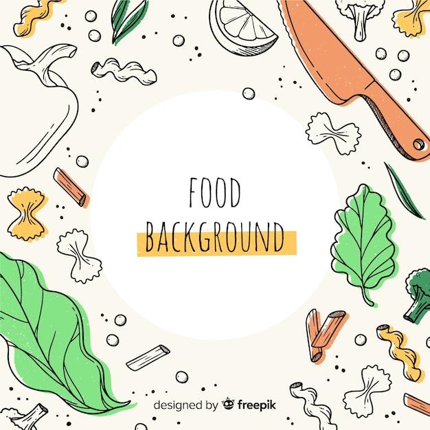 Food background Premium Vector