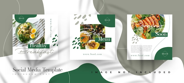 Food & culinary instagram post template Free Vector