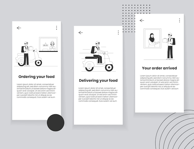 Food delivery mobile app ui concept Premium Vector