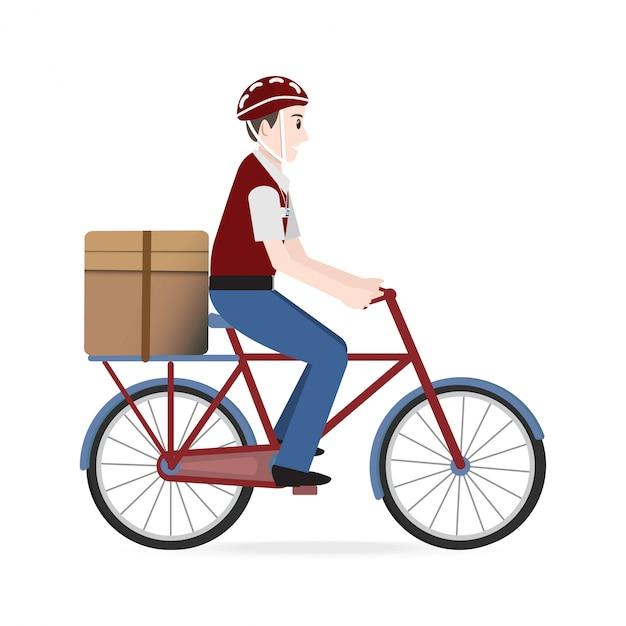 Food delivery service illustration Premium Vector