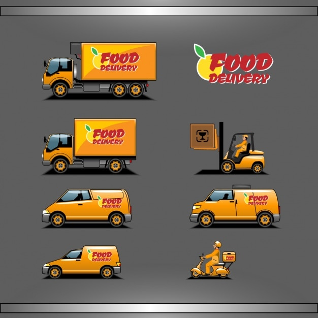 Food delivery Free Vector