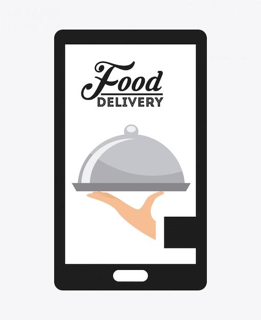 Food delivery Premium Vector