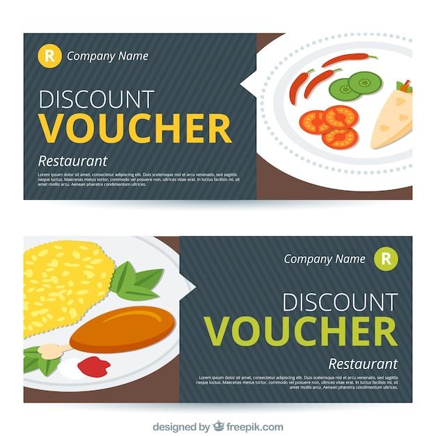 Food discount vouchers Vector | Free Download