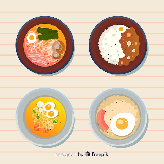 Food dish collectio Free Vector