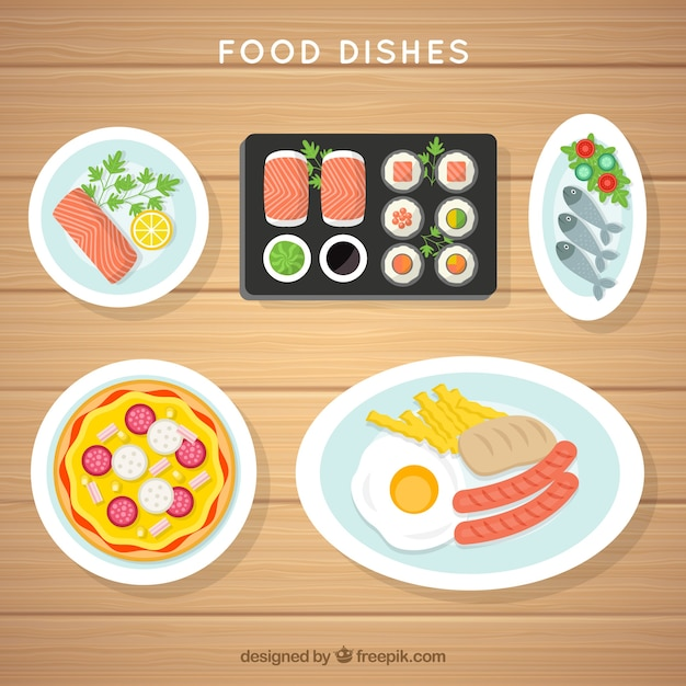 Food dishes collection