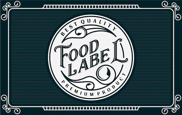 Food and drink label Premium Vector