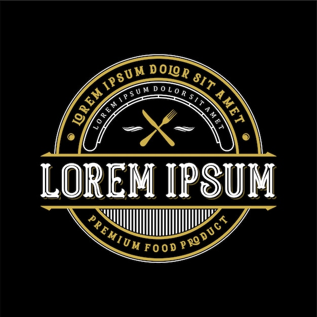Food and drink logo design for product and restaurant Premium Vector