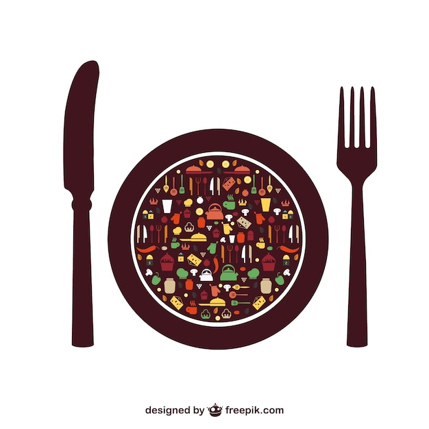 食品ベクトルの要素の無料メニュー Premiumベクター