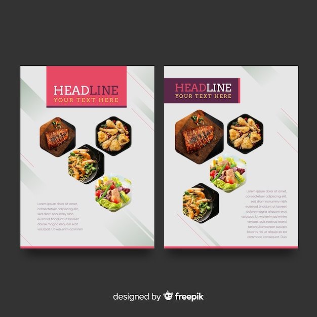 food flyer template vector free download