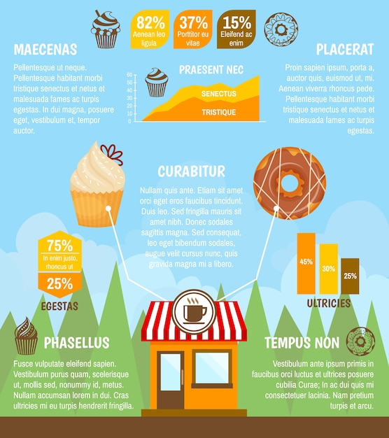 food infographic template vector free download. Black Bedroom Furniture Sets. Home Design Ideas
