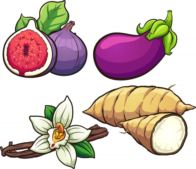 Food ingredients Premium Vector