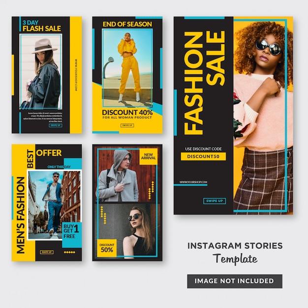 Food instagram stories template Premium Vector