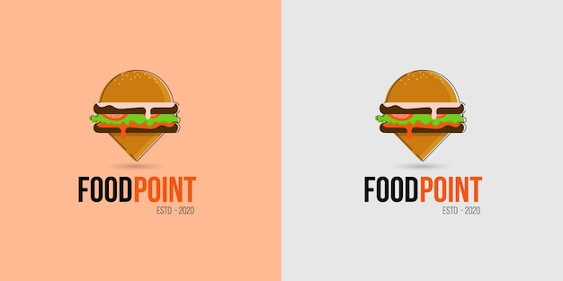 Food location logo  icon for food shops, food truck and foot carts business Premium Vector