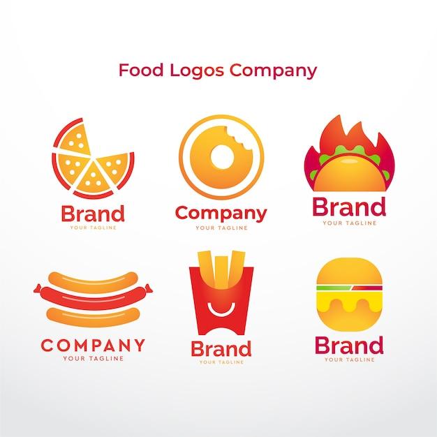 食品ロゴ会社 Premiumベクター