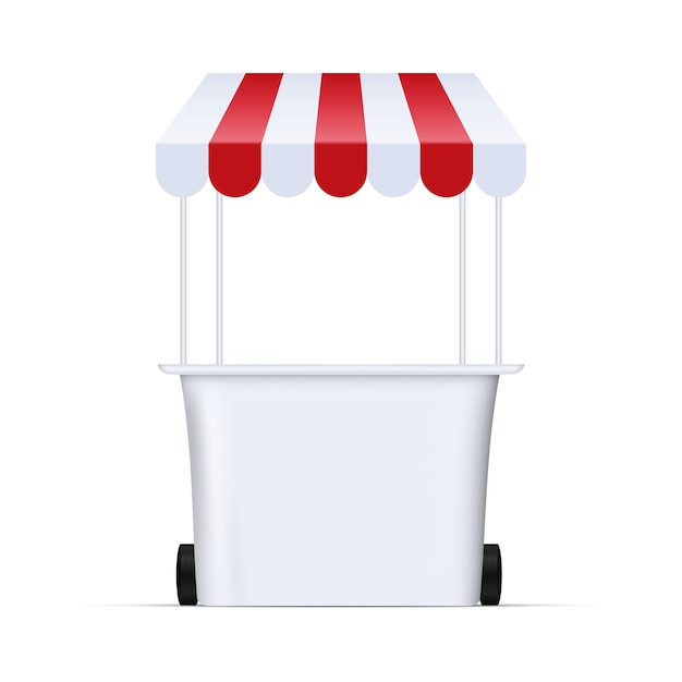 食品市場のキオスクのイラスト Premiumベクター