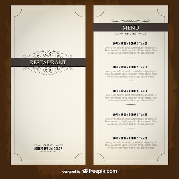 Food Menu List Restaurant Template Vector | Free Download