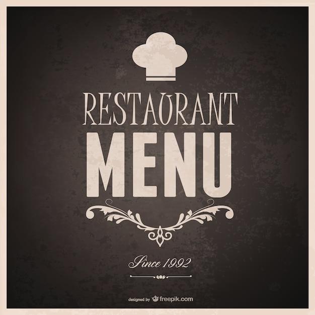 Food menu template design Free Vector