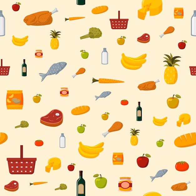 food pattern design vector free download