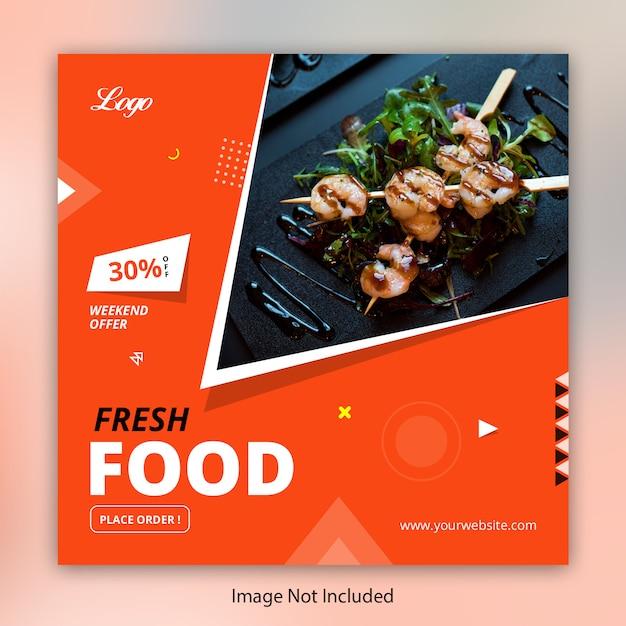 Food restaurant instagram post Premium Vector
