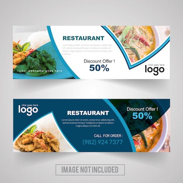 food restaurant vector banner design vector template vector