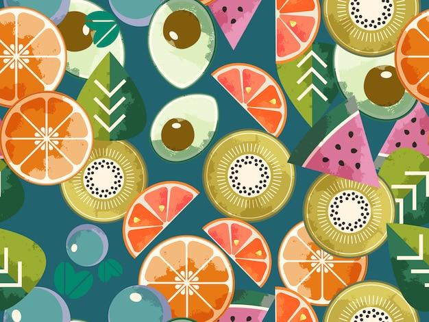 Food seamless pattern Premium Vector