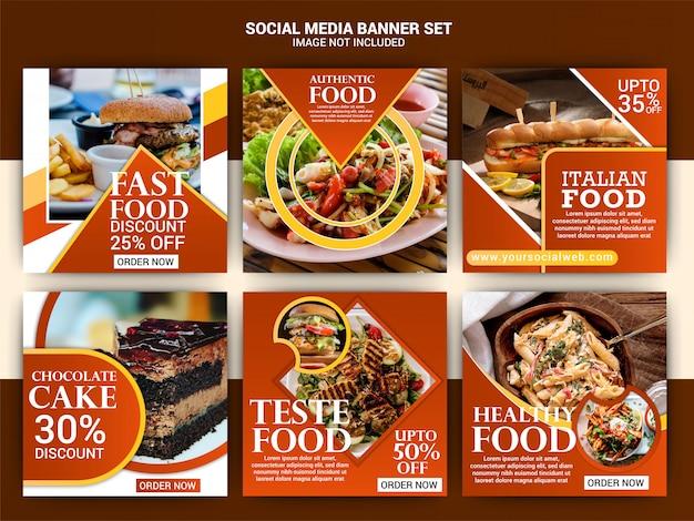 Food social media post template Premium Vector