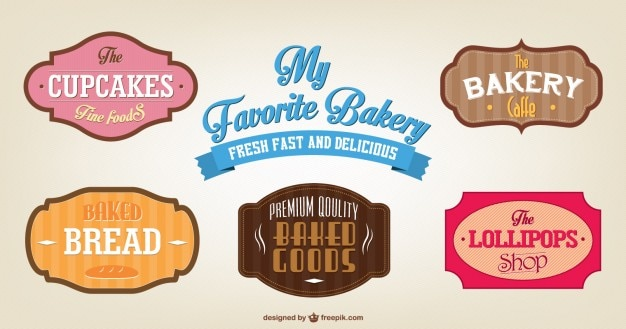 Food stickers free vector
