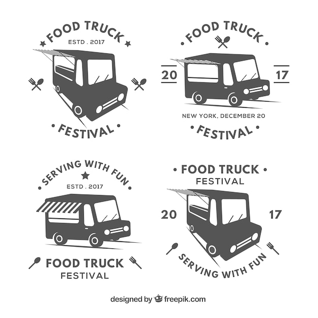Food truck badge collection