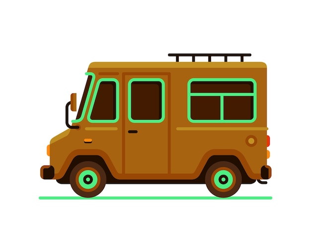 Автомобиль грузовик грузовик автомобиль вектор Premium векторы