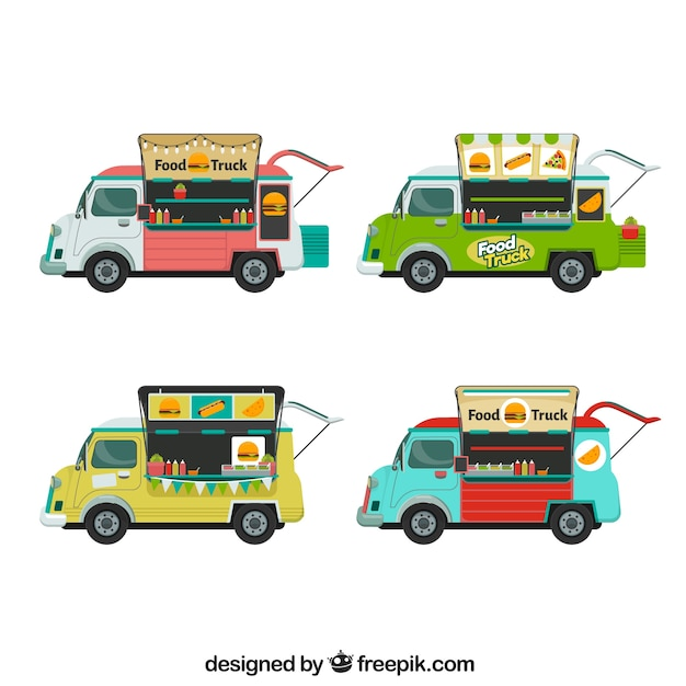 Food truck collection with fast food