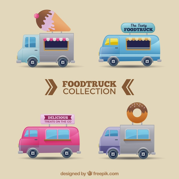 Food truck collection with sweet food