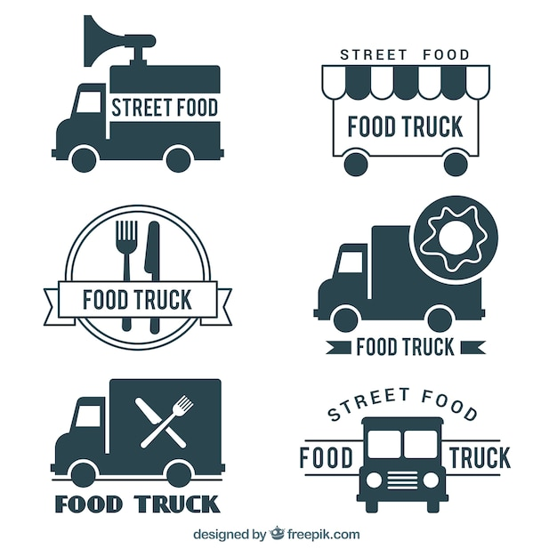 food truck logo design vector free download
