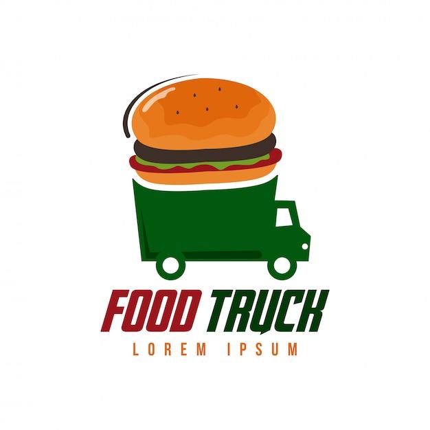 Food truck logo Premium Vector