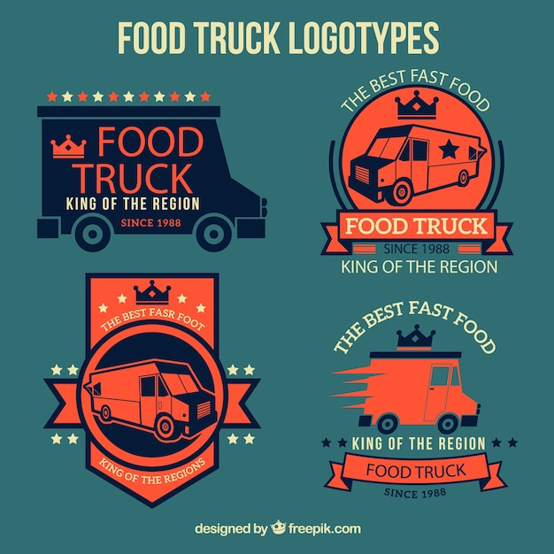 Food truck logotypes design