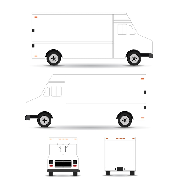 food truck vector template vector premium download