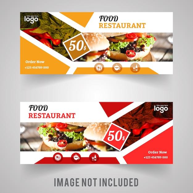 food web banner design for restaurant vector premium download