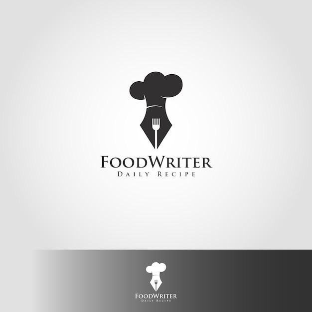 food writer logo template vector premium download