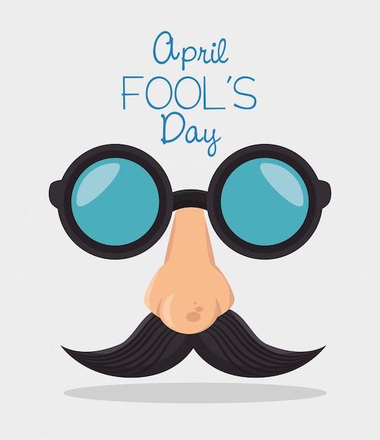 Fools day design Premium Vector