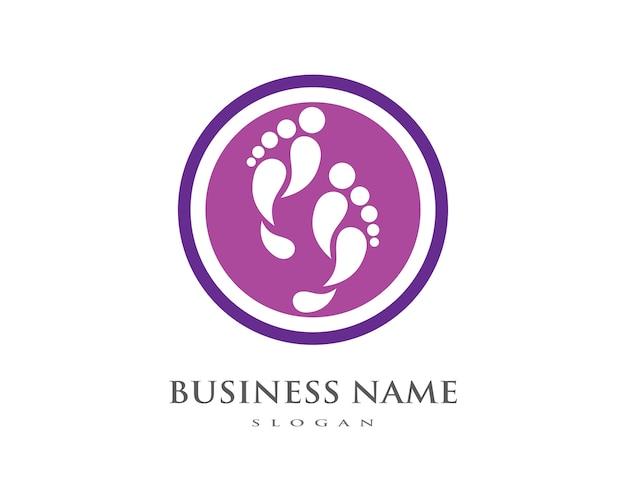 Foot logo template Premium Vector