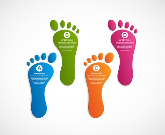 Foot modern design template infographics. Premium Vector