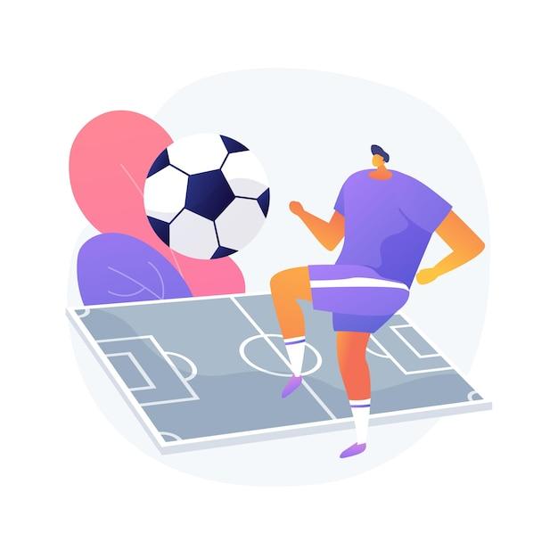 Футбол абстрактное понятие векторные иллюстрации. футбольная команда, турнир, фанат футбольного клуба, спортивное оборудование, ставки на чемпионат мира, просмотр в прямом эфире, абстрактная метафора кубка премьер-лиги. Бесплатные векторы