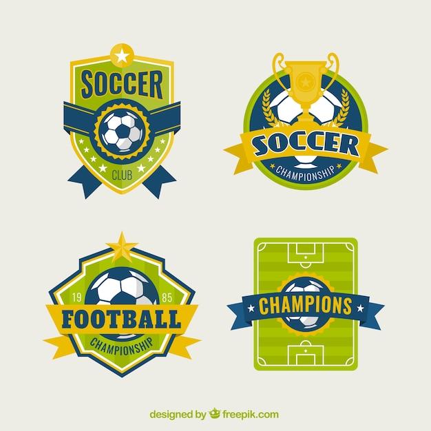 Football badges Free Vector